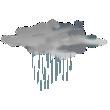 Nuvoloso con pioggia leggera
