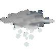 Nuvoloso con nevicate da moderate a intense